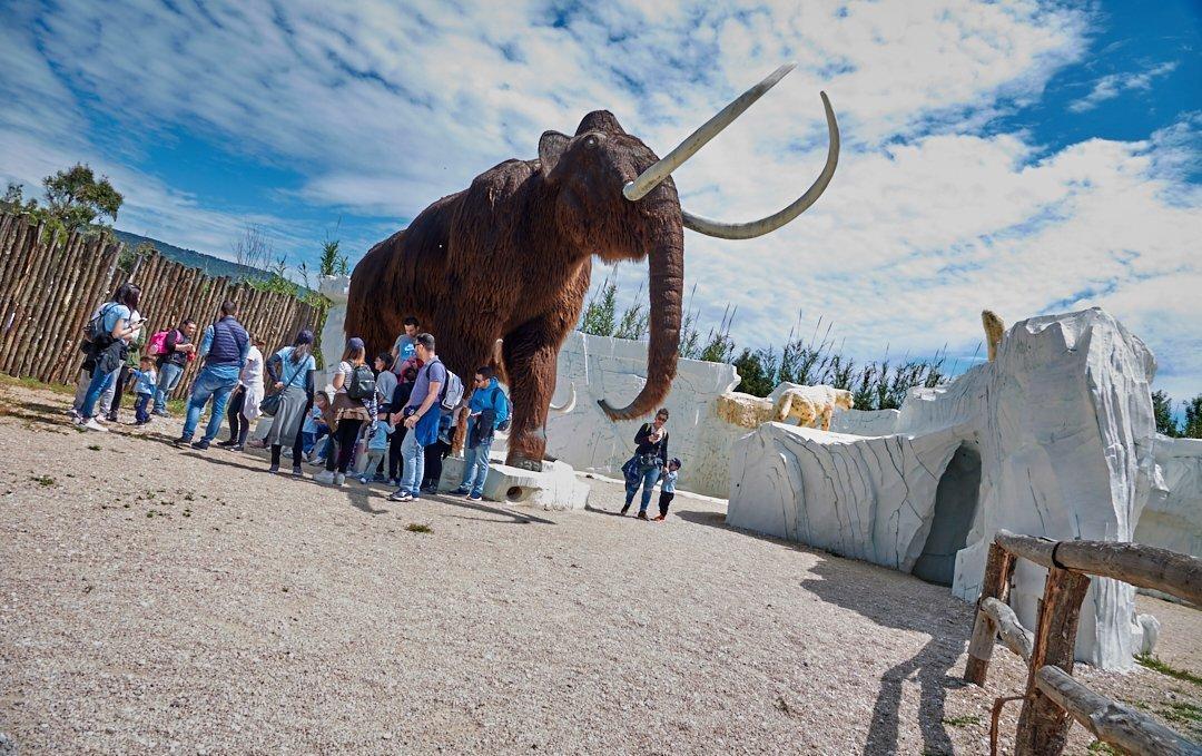 L'area dedicata all'Era Glaciale è parte integrante del Parco dei Dinosauri
